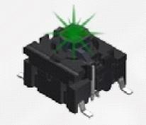 Pulsador Mec para PCB - Multimec - 5G - (agujero pasante (through-hole); 3.5N; led: alta int.verde )