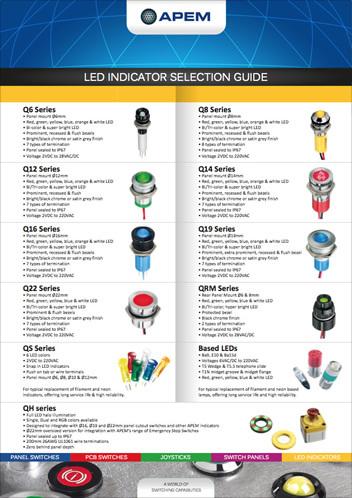 SELECTION GUIDE LED INDICATORS